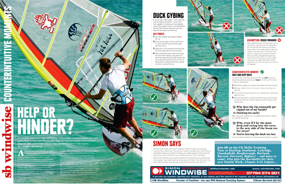 Windsurfing Technique Photoshoot for Boards Magazine