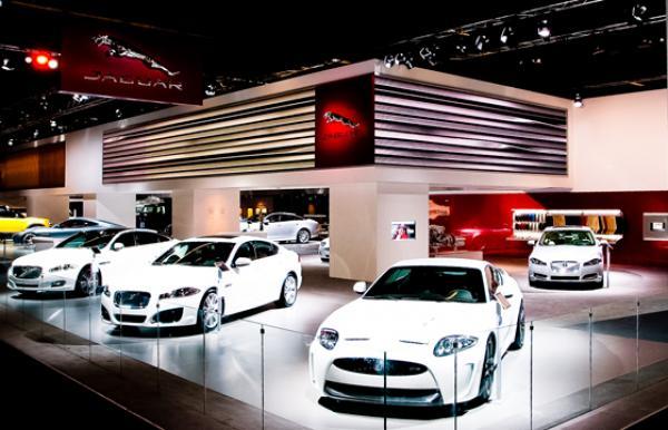 Jaguar Exhibition stand at the Frankfurt Motor Show